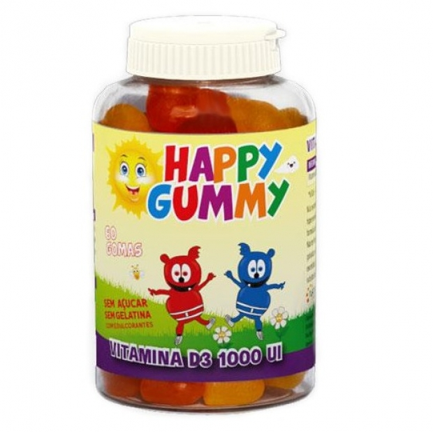 Happy Gummy Vitamina D3 1000 UI 60 gomas