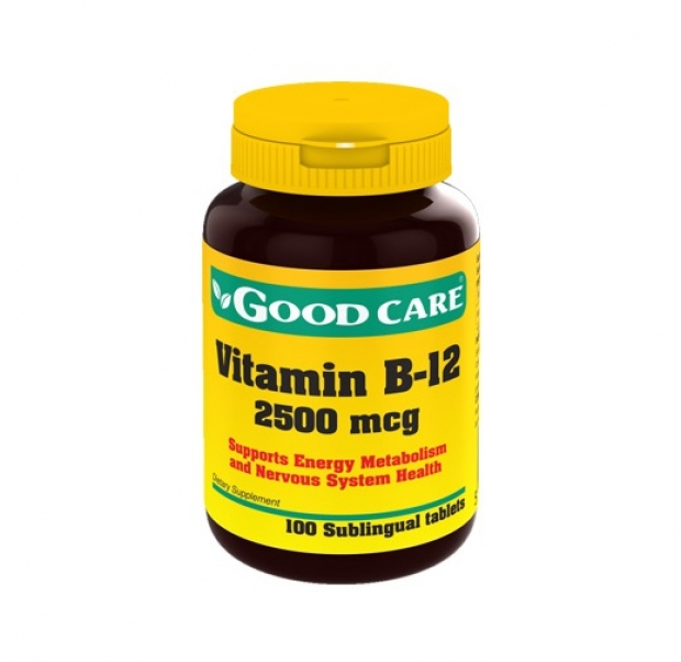 Vitamin B-12 2500 mcg 100 Sublingual tablets