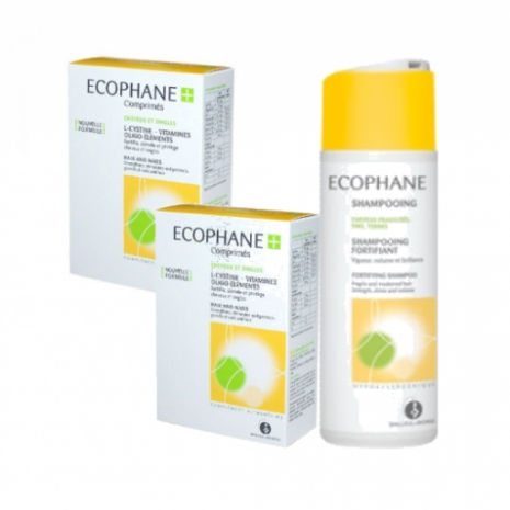 Ecophane Suplemento Fortificante Oferta Champô Fortificante - Pack Comprimidos 2x60unid+200ml