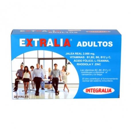 Extralia Adultos Geleia Real 2000mg 20 ampolas