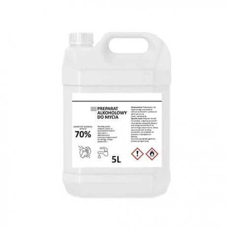 Preparação de álcool 70% antibacteriano para limpeza de superfícies 5000ml