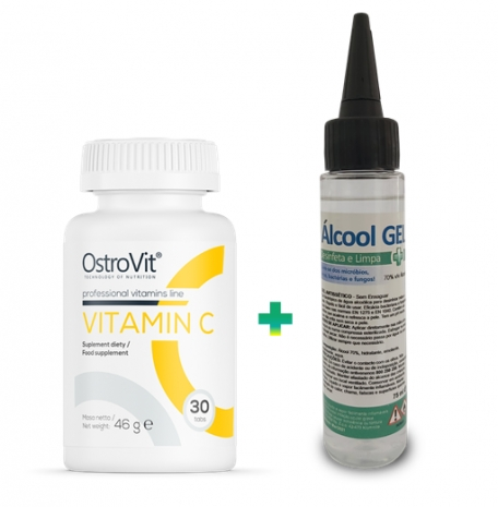 Vitamin C 1000mg 30tabs + Álcool Gel 70% 75ml