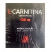 L-Carnitina 4000mg 20 ampolas