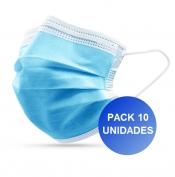 Pack 10x Máscara Descartável 3 camadas