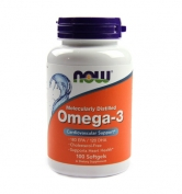 Omega-3 Molecularly Distilled Fish Oil 100 softgels