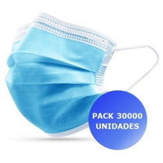 Pack 30000x Máscaras Certificadas CE FDA 3 camadas